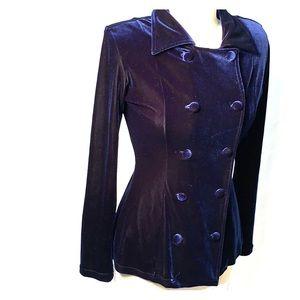 Vintage Lily K Blue Velvet Blazer